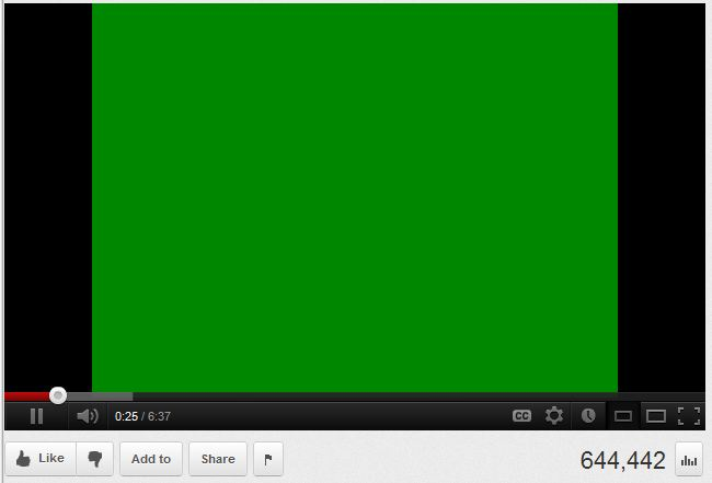 зеленый экран вместо видео в браузере
